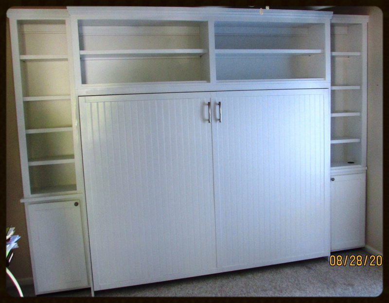 Queen Size Murphy Bed And So Much More! This Whole Unit Takes Up Less Than  16